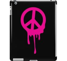 Dripping peace sign in hot pink iPad Case/Skin