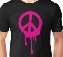 Dripping peace sign in hot pink Unisex T-Shirt