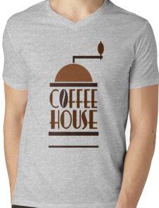 Coffee House Mens V-Neck T-Shirt