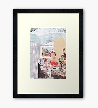 Dinner in the arctic Framed Print