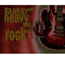 hard metal heavy rock Photographic Print