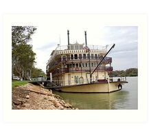 Murray Princess Mannum. S.A Art Print