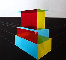 Bauhaus Primary Coloured Architectural Design  by noahbier1