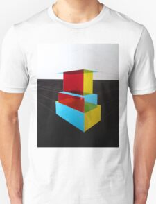 Bauhaus Primary Coloured Architectural Design  Unisex T-Shirt