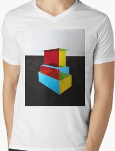 Bauhaus Primary Coloured Architectural Design  Mens V-Neck T-Shirt