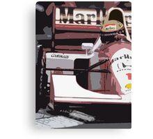 Ayrton Senna Marlboro McLaren Canvas Print