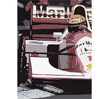 Ayrton Senna Marlboro McLaren Photographic Print
