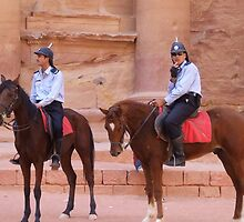 treasury guards at Petra, Jordan by chord0
