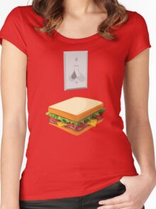 Team Light-switch Sandwich Women's Fitted Scoop T-Shirt