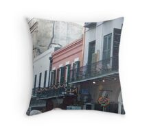 Building Pieced Together Throw Pillow