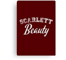 Once Upon a Time - Scarlett Beauty Canvas Print