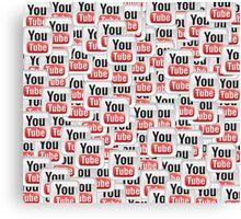 Infinite YouTube Canvas Print