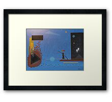 Clown On A Wire Framed Print