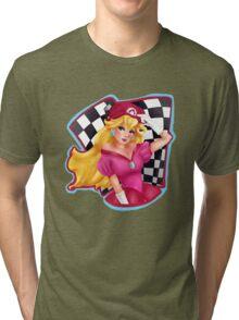 Princess Peach Pin Up Tri-blend T-Shirt