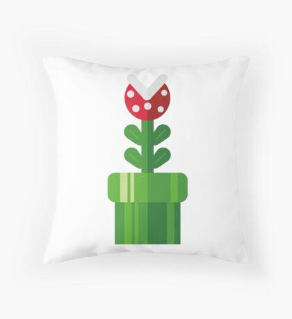 Pipe plant Throw Pillow
