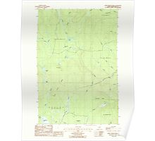 Maine USGS Historical Map North Brook Ridge 102822 1986 24000 Poster