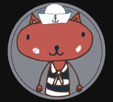 Nautical Adventures: Sailor Cat Kids Clothes