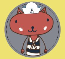 Nautical Adventures: Sailor Cat Kids Clothes
