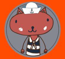 Nautical Adventures: Sailor Cat Kids Tee