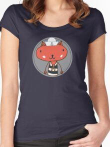 Nautical Adventures: Sailor Cat Women's Fitted Scoop T-Shirt
