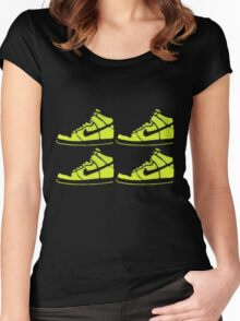 dunk stencil Women's Fitted Scoop T-Shirt