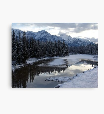 Reflections of Winter, Rocky Mountains Canvas Print
