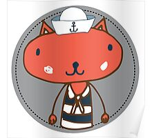 Nautical Adventures: Sailor Cat Poster