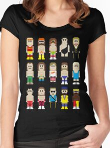 8-Bit Wrestling! Women's Fitted Scoop T-Shirt