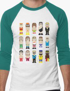 8-Bit Wrestling! Men's Baseball ¾ T-Shirt