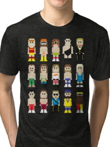 8-Bit Wrestling! Tri-blend T-Shirt