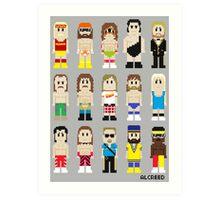 8-Bit Wrestling! Art Print