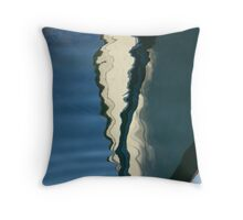 Boat Reflections-Inverse Throw Pillow