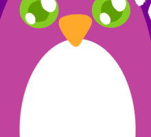 Penguin Santa Sticker