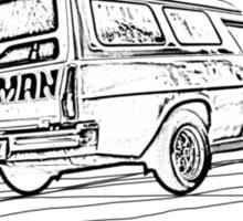Classic Sandman Panelvan Sticker