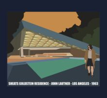 Goldstein House John Lautner Architecture Tshirt by pohcsneb