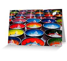 Coloured Bowls Greeting Card