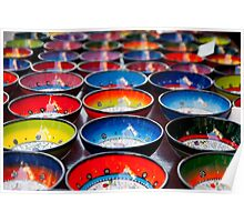 Coloured Bowls Poster