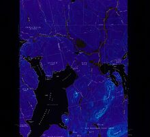 Maine USGS Historical Map North East Carry 460678 1954 62500 Inversion by wetdryvac
