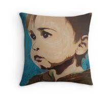Portrait of an Artist as a Young Boy Throw Pillow