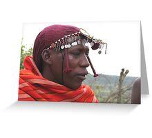 Masai man, Masai Mara Greeting Card