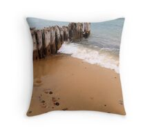 Windy Day on Whitefish Point I Throw Pillow