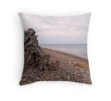 Windy Day on Whitefish Point II Throw Pillow