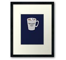 Sherlock - Surprisingly Okay Framed Print