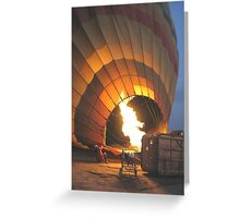Inflation of balloon Greeting Card