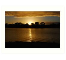 Sunrise - Mannum - South Australia Art Print