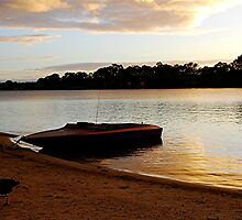 Dawn on the Murray - Mannum - South Australia by Michael Tapping