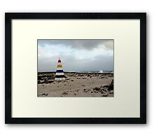 Bonaire, End with the Rainbow Framed Print