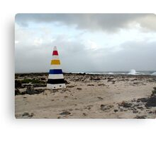 Bonaire, End with the Rainbow Metal Print