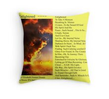Enlightened with the Rockin bamagirl Throw Pillow