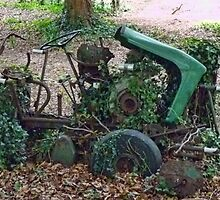 Retired Old Ride On Mower  by lynn carter